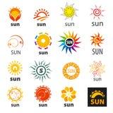 Set wektorowy loga słońce Obrazy Royalty Free