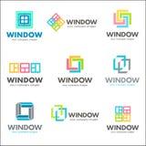 Set wektorowy loga szablon dla okno firm Zdjęcie Royalty Free