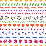 Set wektorowy ręka rysunek graniczy dla ram, tło, wystrój royalty ilustracja