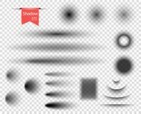 Set wektorowy round, owal, prostokątni wyginający się cienie z miękką częścią izolującą ostrzy elementy projektu podobieństwo ilu royalty ilustracja