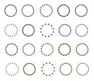 Set wektorowy starburst, sunburst odznaki Prosty mieszkanie styl Rocznik etykietki Round winieta, rama royalty ilustracja