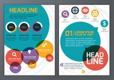 Set wektorowy szablon dla broszurki, ulotka, plakat, zastosowanie