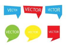 Set wektorowy sztandar Adnotacja faborek Mowa bąbel odizolowywający na białym tle również zwrócić corel ilustracji wektora ilustracji