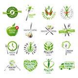 Set wektorowych logów zdrowy łasowanie ilustracji