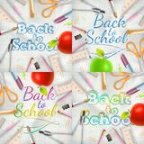 Set of Welcome back to school template. EPS 10 Royalty Free Stock Images