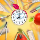 Set of Welcome back to school template. EPS 10 Royalty Free Stock Photography