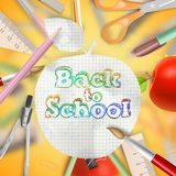Set of Welcome back to school template. EPS 10 Royalty Free Stock Photos