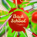 Set of Welcome back to school template. EPS 10 Stock Photography