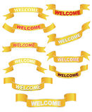 Set of welcome banners Royalty Free Stock Photography