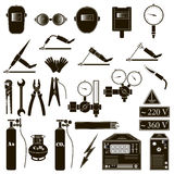 Set welding items Stock Images