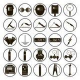 Set welding items. Set icons of welding isolated on white background. Vector illustration Stock Photo