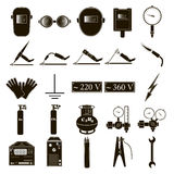 Set welding items. Set icons of welding isolated on white background. Vector illustration Royalty Free Stock Images
