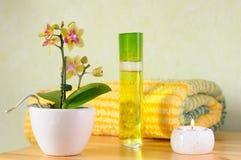set wellness för stearinljus Arkivbilder