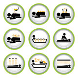 Set of Wellness&Spa Pictogram Buttons I. Set of shiny buttons with icons of Wllness&Spa theme Royalty Free Stock Images