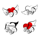 Set Wellness symbols. Healthy  fitness. Stock Photography