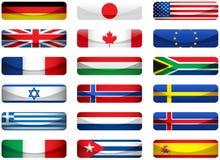 Set Weltmarkierungsfahnen Lizenzfreies Stockbild