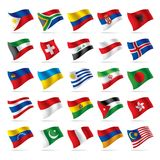 Set Weltmarkierungsfahnen 3 Lizenzfreie Stockbilder