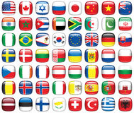 Set Weltmarkierungsfahnen Lizenzfreies Stockfoto