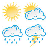 Set Wetterikonen Lizenzfreies Stockfoto