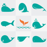 Set of  whale icons Stock Photo