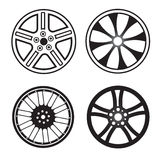 Set of wheels Stock Photos