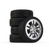 Set of wheels Royalty Free Stock Photography