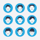 Set of  white avatar icons Royalty Free Stock Images