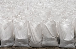 Set of white bags Royalty Free Stock Images