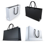 Set of white and black bags Stock Image