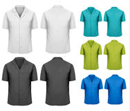 Set of white and black and colorful work clothes. Royalty Free Stock Photo