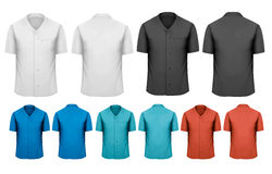 Set of white and black and colorful work clothes. Stock Image