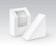 Set of White Blank Boxes Packaging For Gift Royalty Free Stock Photos