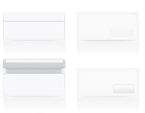 Set of white blank envelopes vector illustration Stock Photos