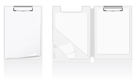 Set of white blank folder vector illustration Stock Image