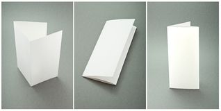 Set white booklets Royalty Free Stock Images