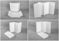 Set of white booklets stock photos