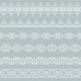 Set of borders. Set of white borders on a gray background Stock Images