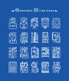 Set of White Business Icons Stock Photography