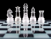 Set of white chess pieces Royalty Free Stock Photos