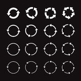 Set of white circle  arrows Royalty Free Stock Photography