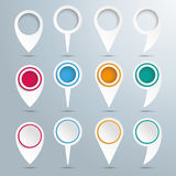 Set Of White Circle Pointers Royalty Free Stock Photography