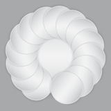 White circle paper sheets Royalty Free Stock Photo