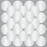 White circle paper sheets Stock Images