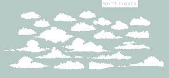 Set of white clouds Royalty Free Stock Photos