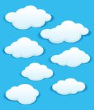 Set of white clouds in the blue sky Stock Photography