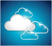 Set of white clouds. illustration design Royalty Free Stock Photography