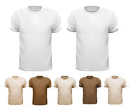 Set of white and colorful male shirts. Vector Stock Photography