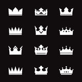 Set of  white crowns Stock Photography