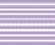 Set of white elegant laces Royalty Free Stock Photo