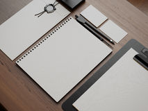 Set of white elements. 3d render Royalty Free Stock Image